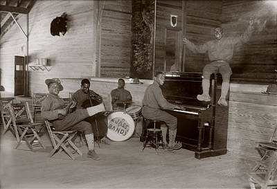 World War I, U.s. Army Jazz Band, Circa Print by Everett