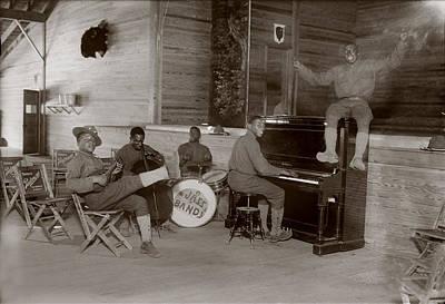 Jazz Band Photograph - World War I, U.s. Army Jazz Band, Circa by Everett