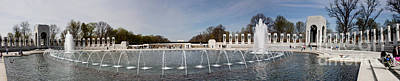 World War II Memorial Panorama Washington Dc  Print by Thomas Marchessault