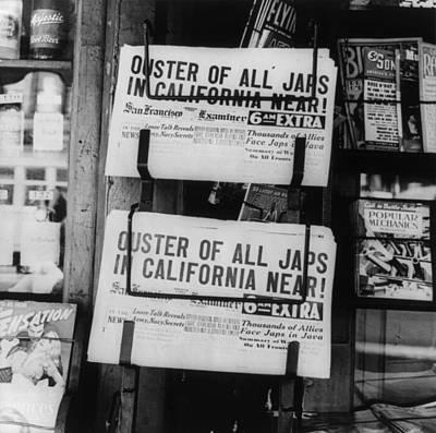 World War II, News Headlines Announcing Print by Everett