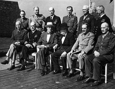 World War II. Seated, From Left George Print by Everett