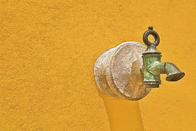 Worn Brass Spigot  Of Medieval Europe Print by David Letts