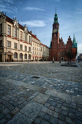 Wroclaw Town Hall Print by Sebastian Musial