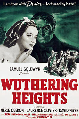 Wuthering Heights, Merle Oberon Print by Everett