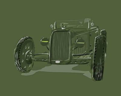 No 3 Drawing - Ww2 Rod by Jeremy Lacy