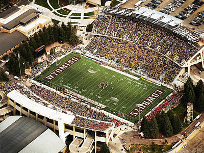 War Memorial Photograph - Wyoming War Memorial Stadium by University of Wyoming
