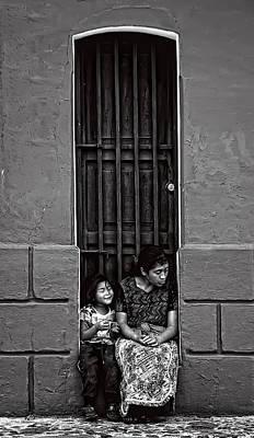 Portrait Photograph - Y Sentada Ahi Permaneces Bw  by Francesco Nadalini