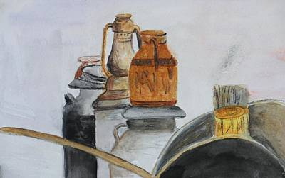 Plein Air Painting - Yard Sale by Donna Walsh
