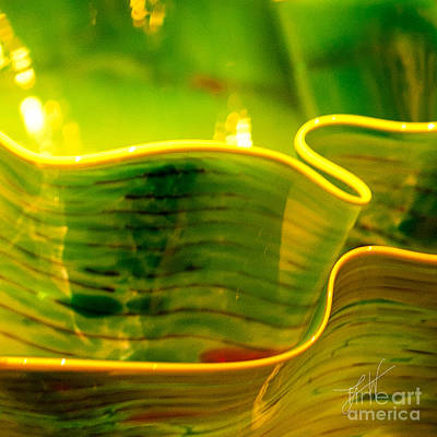 Art Glass Photograph - Yellow And Green by Artist and Photographer Laura Wrede