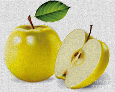 Yellow Apples Print by Cheryl Young