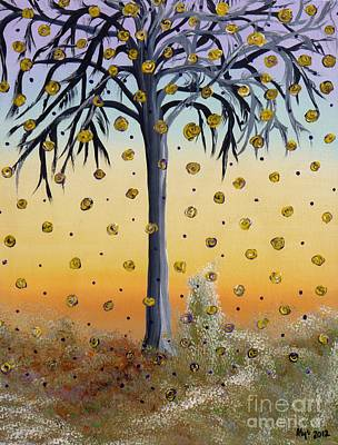Yellow-blossomed Wishing Tree Print by Alys Caviness-Gober