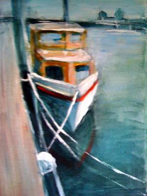 Seafarer Painting - Yellow Boat by Jacqui Mckinnon