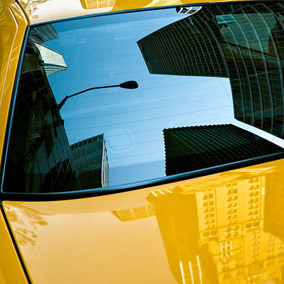 Yellow Cab Big Apple Print by Dave Bowman