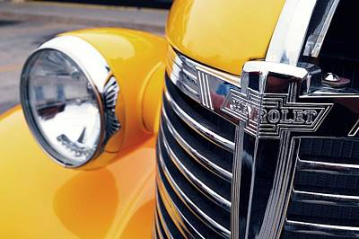 Yellow Chevy Print by Steven Milner