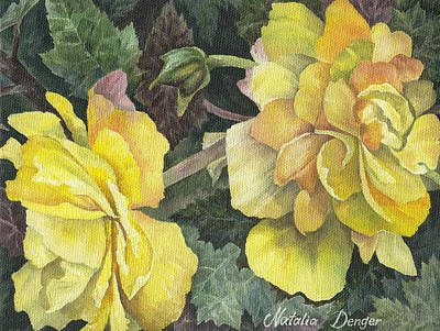 Delicate Details Painting - Yellow Flowers by Natasha Denger