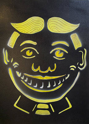 Yellow On Black Tillie Print by Patricia Arroyo
