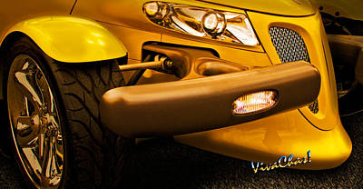 Prowler Photograph - Yellow Prowler Detail by Chas Sinklier