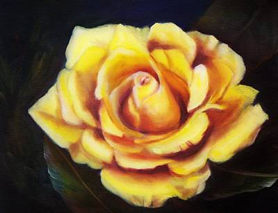 Roses Painting - Yellow Rose by Joni McPherson