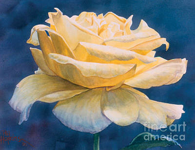 Phil Hopkins Painting - Yellow Rose by Phil Hopkins