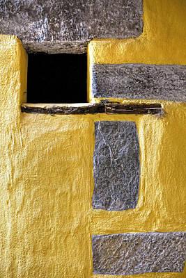 Yellow Stone Wall Print by Joana Kruse