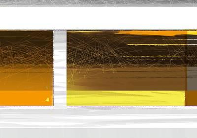 Yellow Storm Print by Naxart Studio