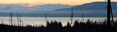 Yellowstone Photograph - Yellowstone Lake Sunrise by Twenty Two North Photography
