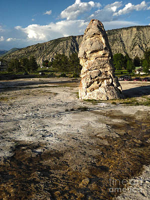 Yellowstone National Park - Mammoth Hot Springs Print by Gregory Dyer