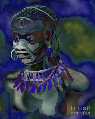 Yoruba Painting - Yemaya  by Liz Loz
