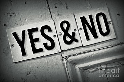 Yes And No 3 Original by Perry Webster