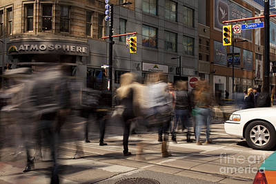 Yonge And Queen Street Intersection Print by Igor Kislev
