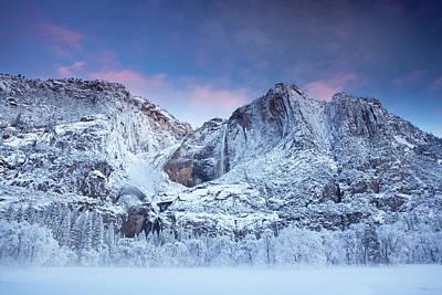 Cold Temperature Photograph - Yosemite Falls by Jesse Estes