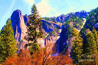 Yosemite Digital Art - Yosemite In The Fall . 7d6287 by Wingsdomain Art and Photography