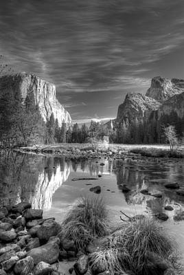 Contemplative Photograph - Yosemite Reflection by Ron Schwager