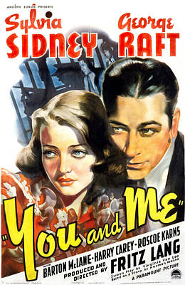 Sylvia Photograph - You And Me, Sylvia Sidney, George Raft by Everett