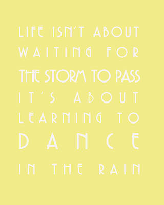 You Can Dance In The Rain Print by Georgia Fowler
