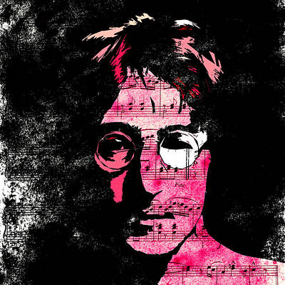 Singer Famous Star Band Music Musican England English Liverpool Digital Art - You Say I Am A Dreamer by Steve K