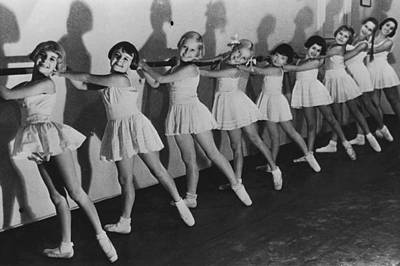Dance Studio Photograph - Young Ballerinas by Keystone
