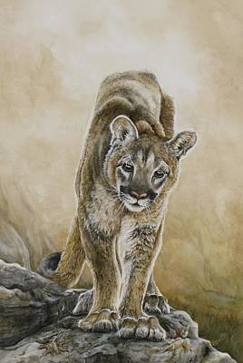 Puma Painting - Young Blood by Nonie Wideman