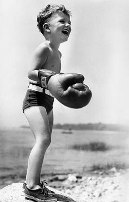 Boys Boxing Photograph - Young Boxer by Doris Day