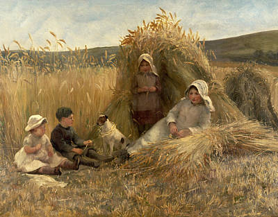 Bundle Painting - Young Harvesters by Lionel Percy Smythe