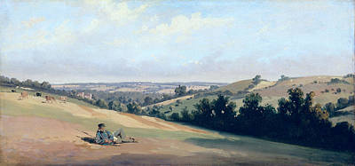 Young Man Reclinging On The Downs Print by Theodore Caruelle d Aligny