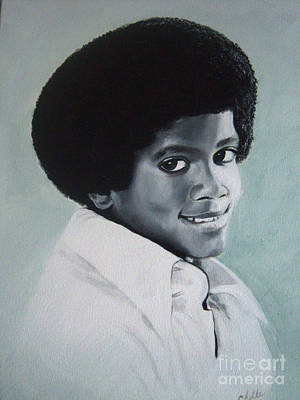 African American Painting - Young Michael Jackson by Chelle Brantley