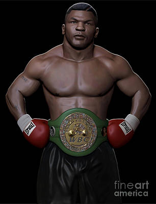 Young Mike Tyson Print by Douglas Petty