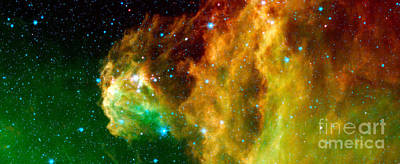 Young Stars Emerge From Orions Head Print by Nasa