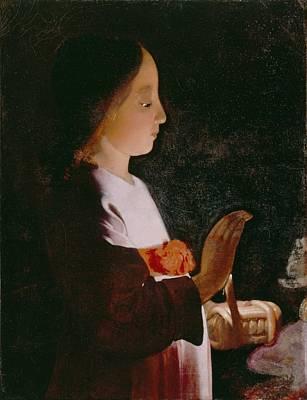 Young Virgin Mary Print by Georges de la Tour