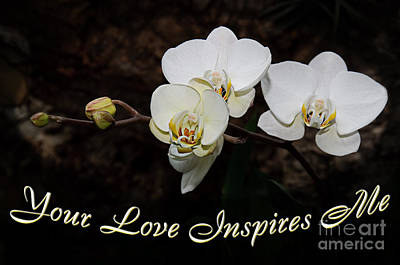 Your Love Inspires Me Print by Andee Design