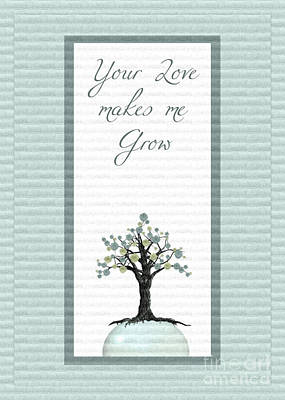 Grow Digital Art - Your Love Makes Me Grow by Aimelle
