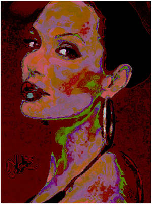Cdkirven Mixed Media - Yours Truly Angelina by CD Kirven