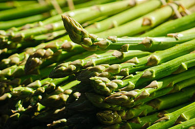 Yummy Asparagus Print by Connie Cooper-Edwards