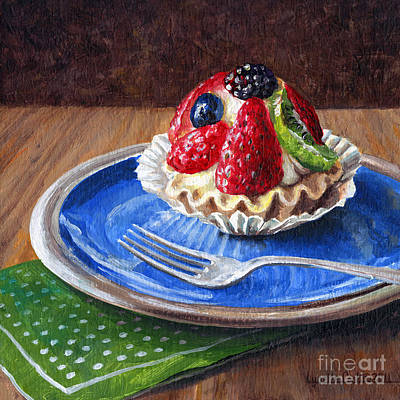 Kiwi Painting - Yummy Goodness by Lynette Cook